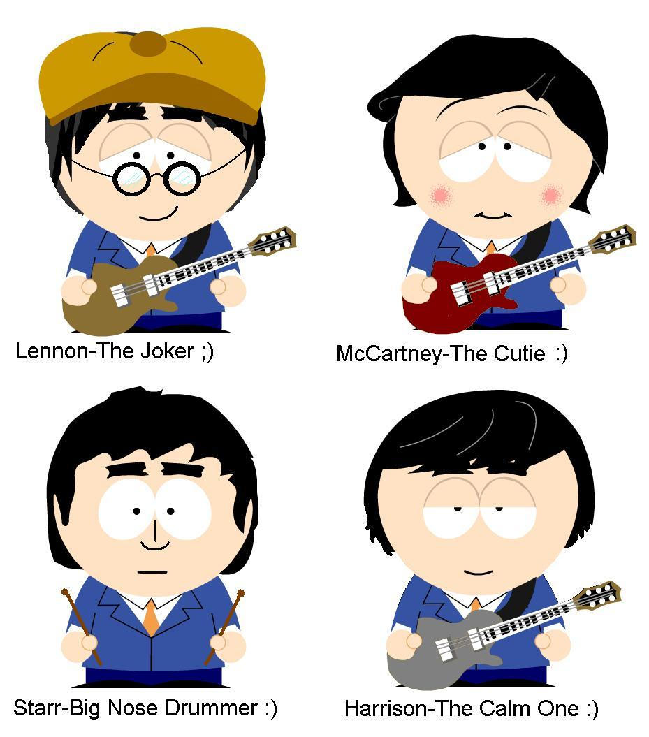 the fab four-beatles southpark by NOODLE101084