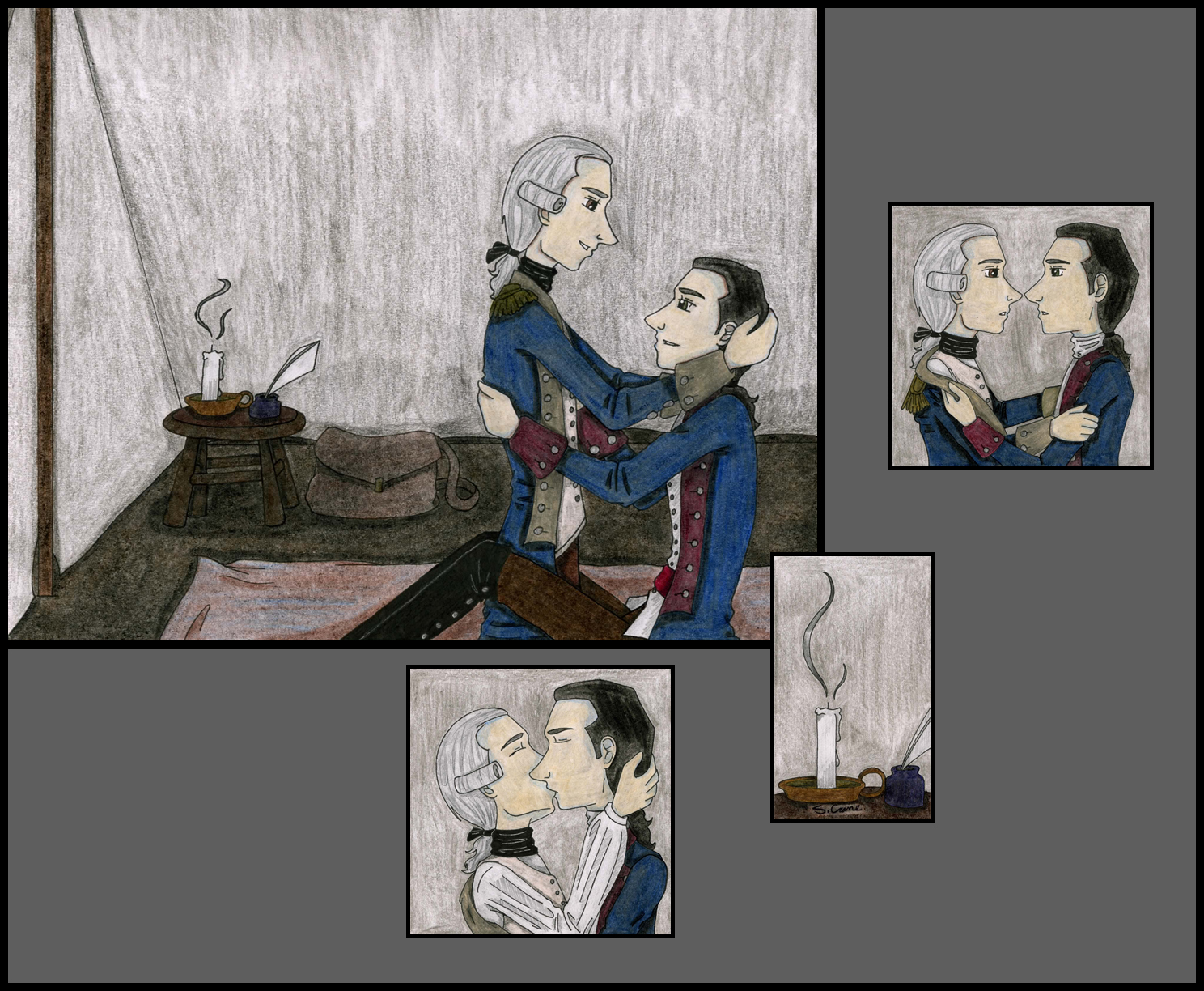 Untitled -Lafayette x Hamilton by myst-walker-in-gray