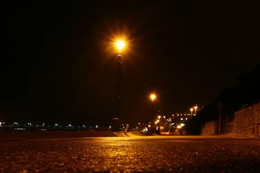 bournemouth coast by night by the-yashmakru