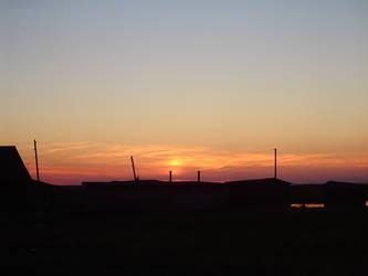 sundown at ladoga lake