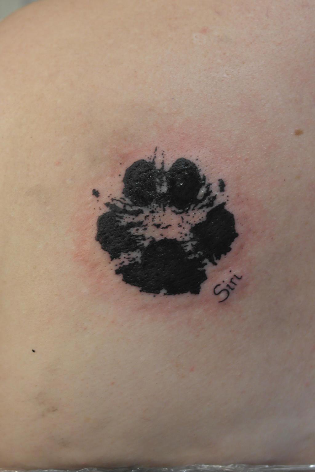 Dog paw tattoo by arthousegrafika on deviantart for Dog paw print tattoo