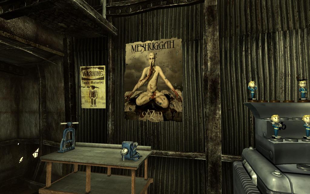 Fallout 3 - Meshuggah Poster by rawart