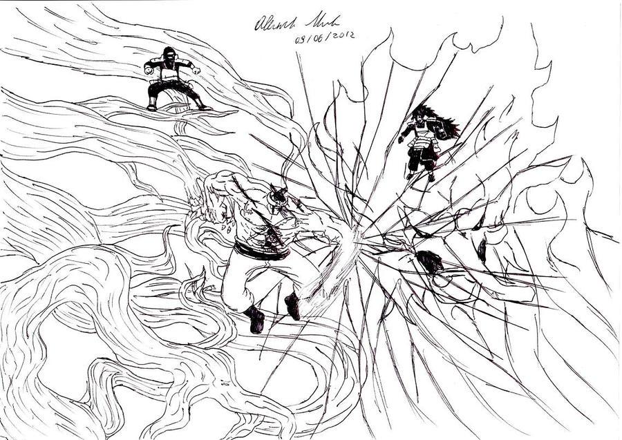 Whitebeard VS Madara Uchiha and Hashirama Senju by ...