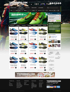 Sports Shoes Theme Layout