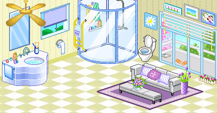 Twin's bathroom by Mariobrosluv