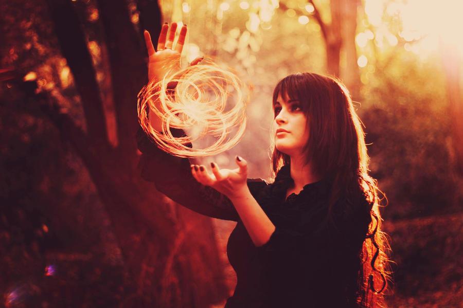 red forest witch III by choochiaki