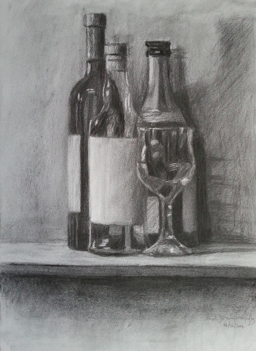 Still Life (Bottles and Glass)