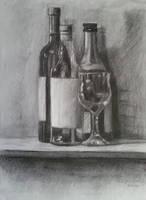 Still Life (Bottles and Glass) by SigmaVita