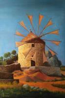 Windmill, Naxos by SigmaVita