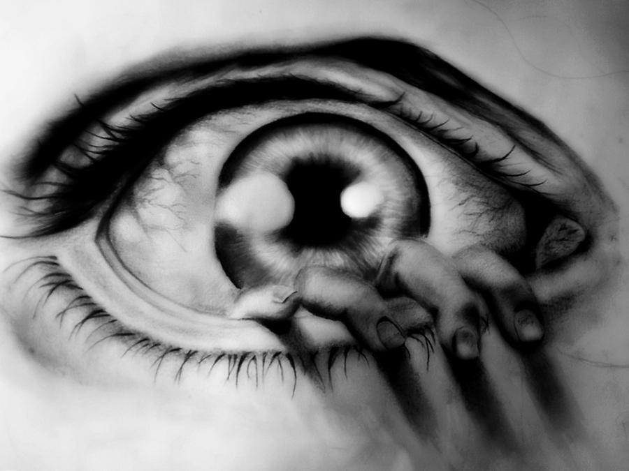 black and white eye by JustMoreImagination on DeviantArt