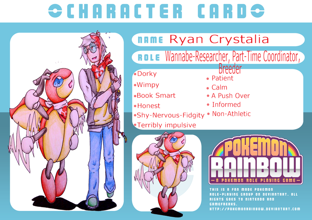PokemonRainbow Card: Ryan Crystalia by KitsPokePeople
