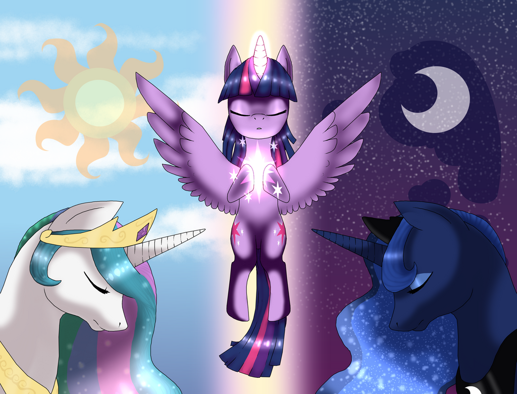 Between night and day (redraw) by xXBlueFireDragonXx