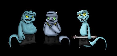 Poker ghosts -Beta ghosts by PoltergeistForever