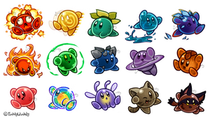 Kirby Ate a Bunch of Slimes