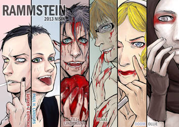 Rammstein - six sick guys by NISINsheep