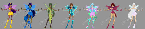 Faerie Star Group by Shadow-Ghost26