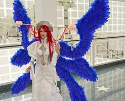 Blue-winged Angel by gamefan23
