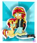 Sunset Shimmer Girl  Pony