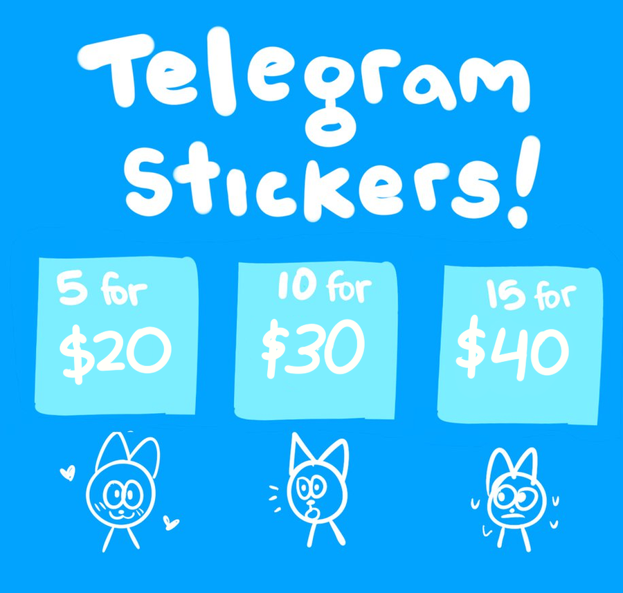 how to put stickers on telegram