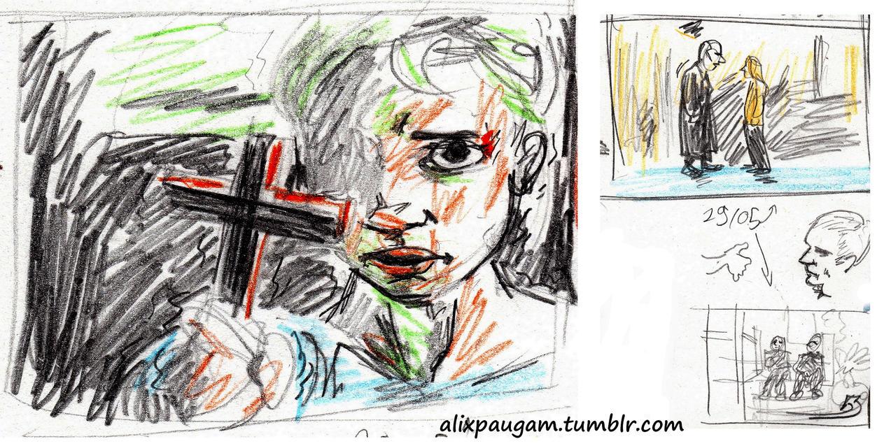 Storyboard practice : BtVS by AlixPaugam