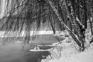 Frozen lake - Le lac de Warfaaz (II) by eVolutionZ