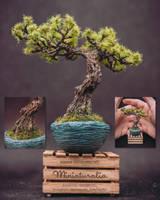 Handmade sculpted bonsai by eVolutionZ