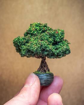 Handmade sculpted bonsai (60mm)