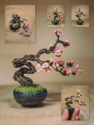 Early blossom (Handmade sculpted bonsai)