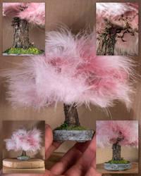 Fairy feather tree (handmade sculpt)