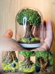 The mini round tree (plastic bell)