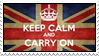 Keep calm and carry on stamp 2 by kas7ia
