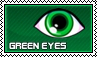 Green eyes - stamp by kas7ia