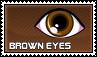Brown eyes - stamp by kas7ia
