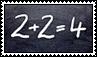 1984 - 2 + 2 = 4 stamp by kas7ia