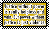 Justice and power stamp by kas7ia