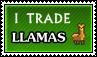 I trade llamas - stamp by kas7ia