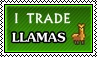 I trade llamas - stamp by kas7ia