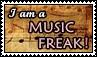 I am a music freak - stamp by kas7ia