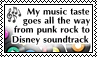 My music taste - stamp