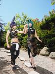 Shaman King - Tao Siblings by AkiHyuna