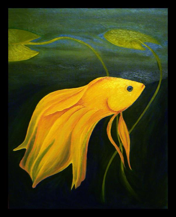 Betta Among Water Lilies 1 by DarkSelfie