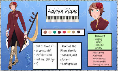 Adrien Piano Official Reference