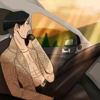 Majima goes for a drive