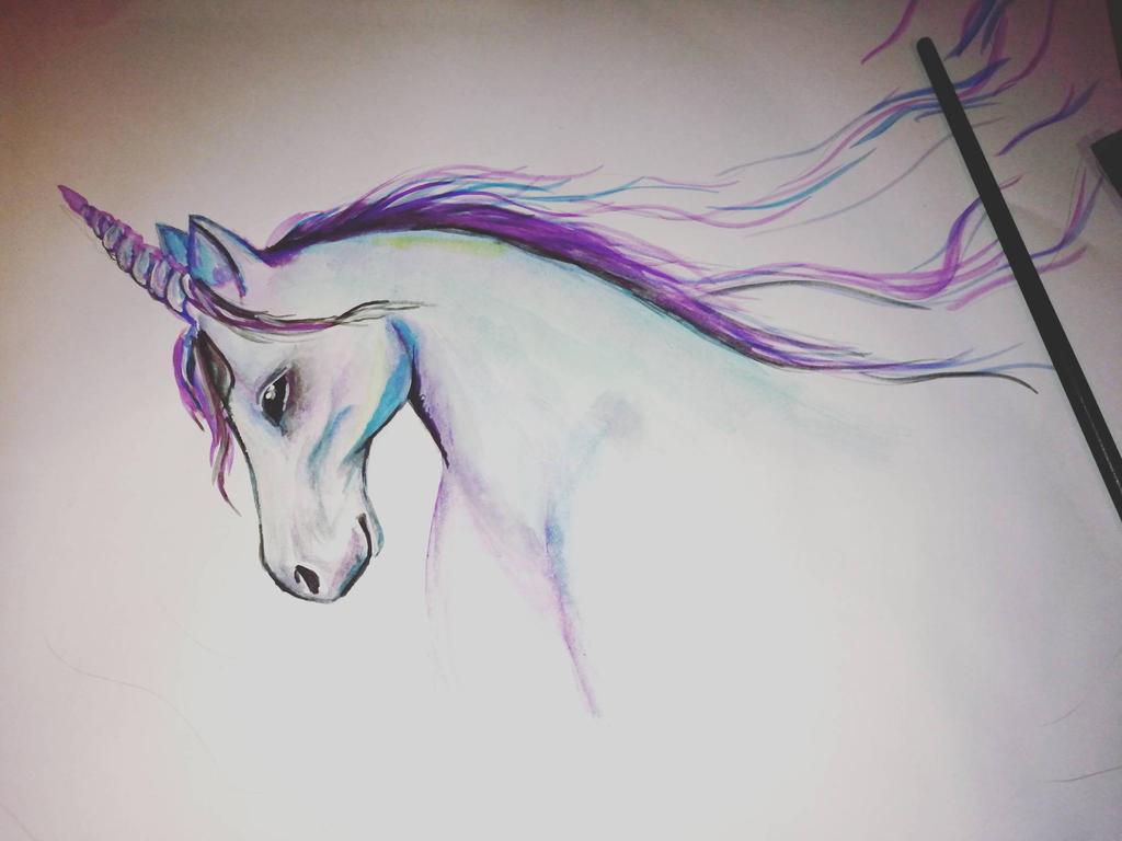unicorn  by manjaDoom