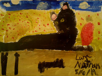 My Little Brother Painted Luna. by Tortive