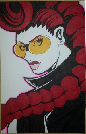 Inktober Day#7 Crimson Viper (LET'S DANCE!) by Courtnee-Blackmon