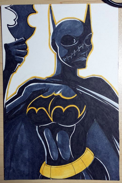 Inktober Day #9 Batgirl (Cassandra Cain) by Courtnee-Blackmon