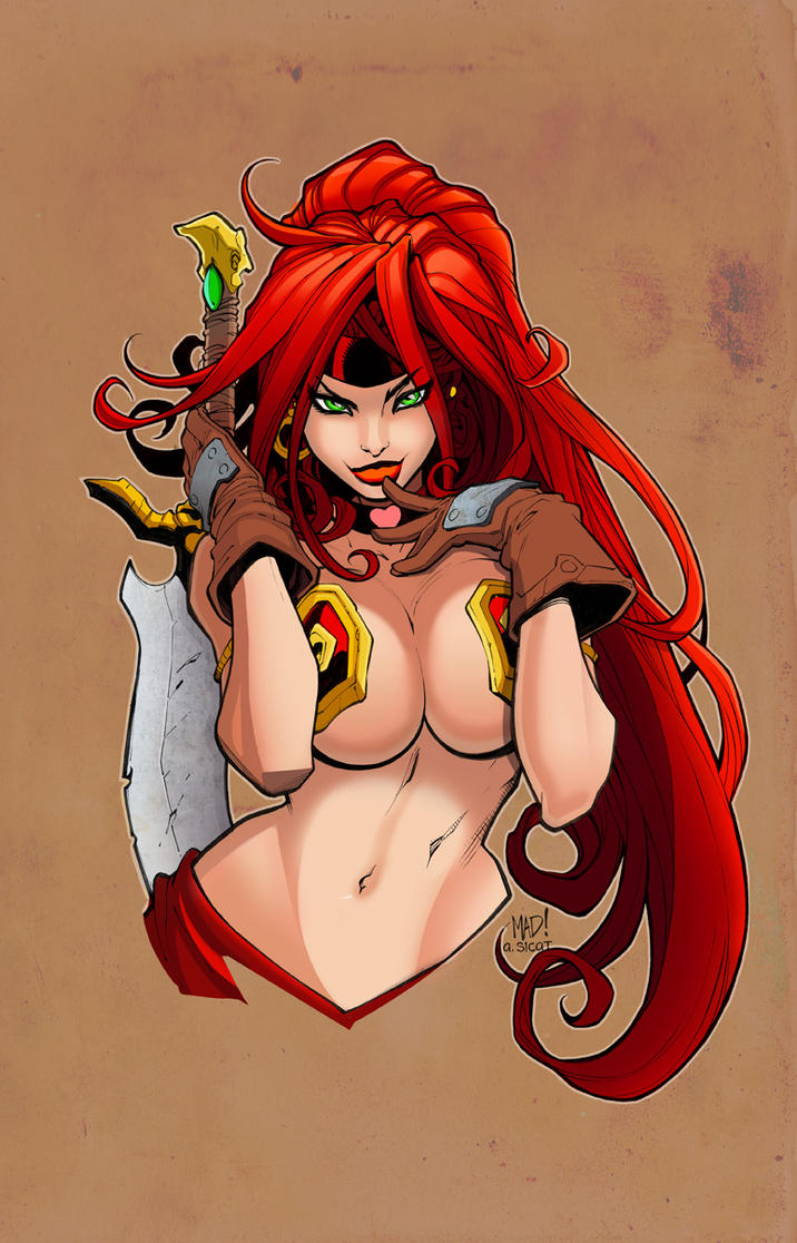 Joe Madureira Red Monika by Courtnee-Blackmon