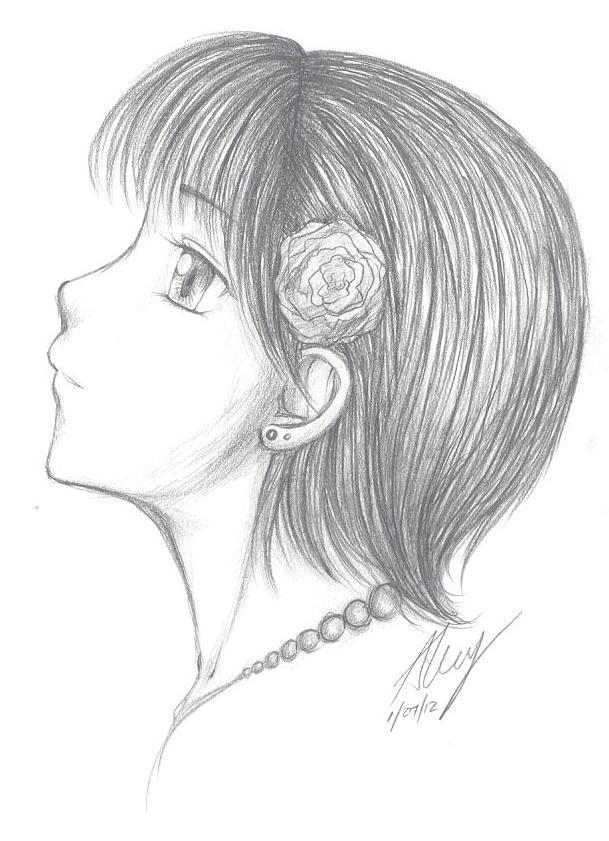 Cute Easy Drawings Anime Girl Pencil Drawing Easy