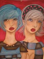 Space Girl and Casper by ichigo-ai